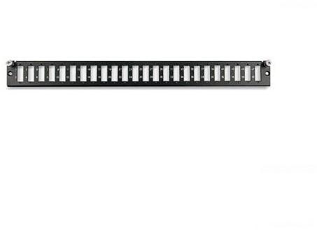 Datwyler FO front, OV-T/S, 12v, SC duplex, 1HE, Ral9005 zwart
