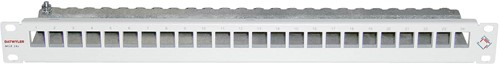 Datwyler Patchpaneel MGK 24v, leeg 1HE, tbv Keystone GG45, edelstaal