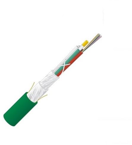 Datwyler Glasvezelkabel FO universal, wbGGFR / U-DQ(ZN)BH, OM3, 72v(6x12) Eca, groen