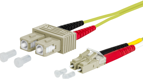 UCS Patchkabel OM5, LC/UPC-SC/UPC, duplex, 2mm, groen, 0,5m