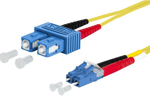 UCS, Patchkabel OS2, LC/UPC-SC/UPC, duplex, geel,  1,5m