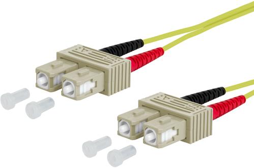 UCS Patchkabel OM5, SC/UPC-SC/UPC, duplex, 2mm, groen, 1m