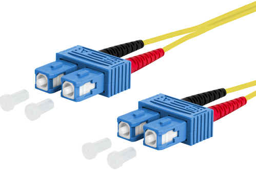UCS Patchkabel OS2, SC/UPC-SC/UPC, duplex, 2mm, geel, 3m