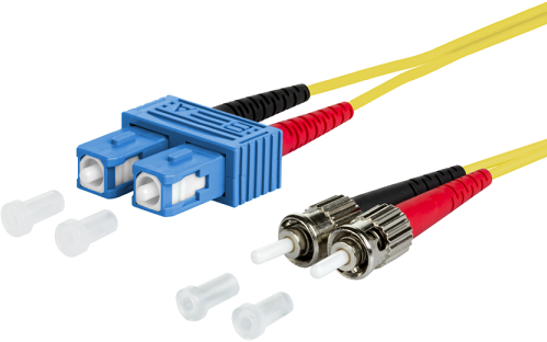 UCS Patchkabel OS2, SC/UPC-ST/UPC, duplex, 2mm, geel, 10m