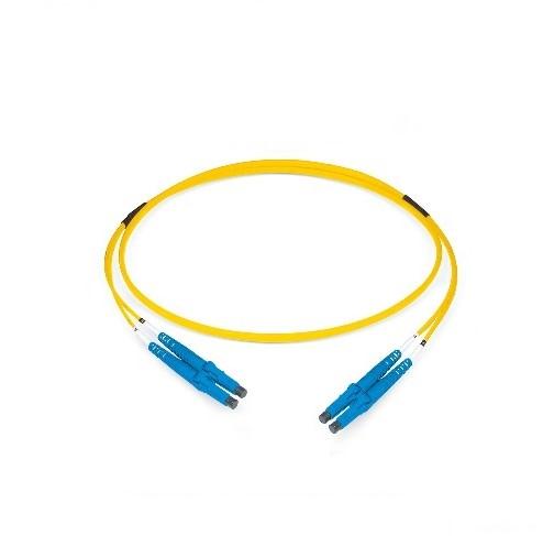 Datwyler Patchkabel OS2, LC/PC-LC/PC, duplex, geel, 10m
