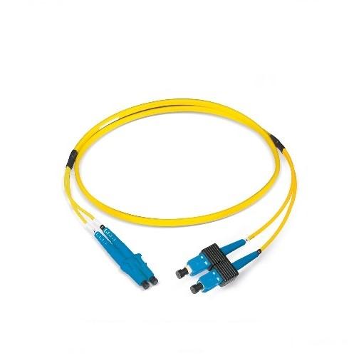 Datwyler Patchkabel OS2, LC/PC-SC/PC, duplex, geel, 1m