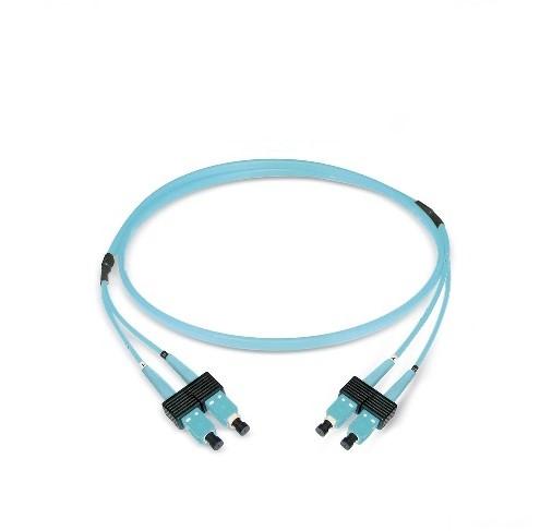 Datwyler Patchkabel OM3, SC/PC-SC/PC, duplex, turquoise, 5m