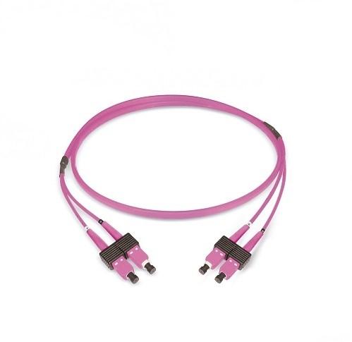 Datwyler Patchkabel OM4, SC/PC-SC/PC, duplex, violet, 3m