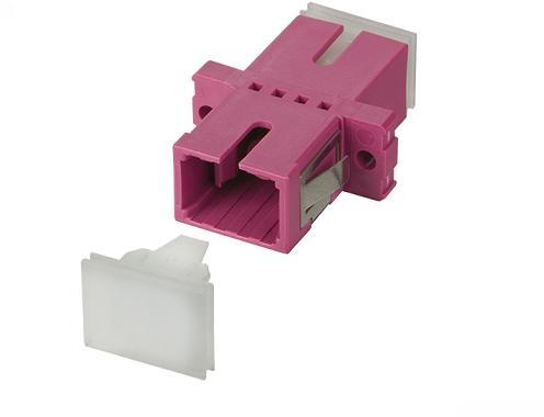 UCS Adapter OM4, SC/PC, simplex, violet