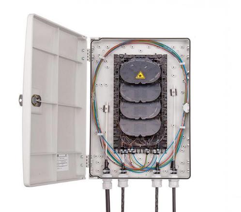 UCS Glasvezel wandbox IP54, URM LL 48S tbv 48 lassen