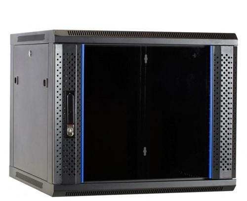 UCS, Wandkast 09HE, B600 D450, glazen deur, zwart