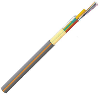 Datwyler Glasvezelkabel FO outdoor, wbKT Micro / A-DQ(ZN)2Y, OS2, 60v(5x12) Fca, zwart